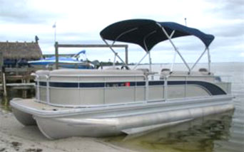 Large Bennington Pontoon powerboat