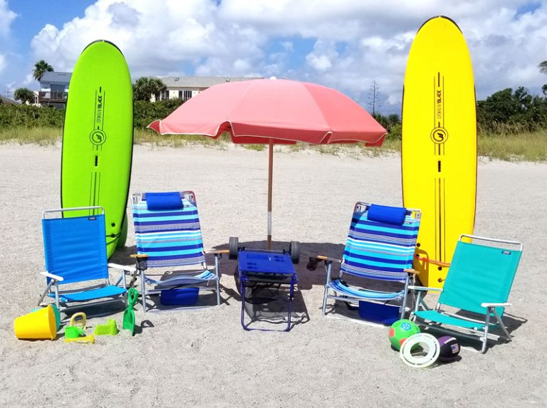 Beach Gear Family Combo 2 wtih Surfboards