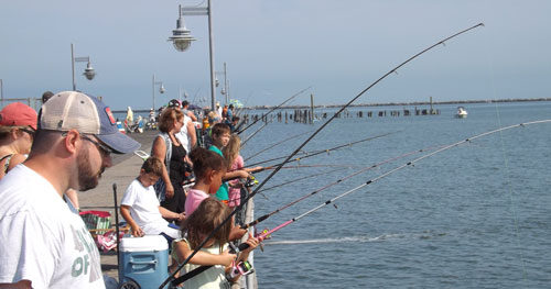 Fishing from Cocoa Beach Pier